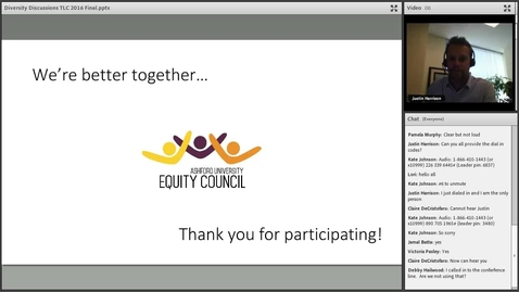 Thumbnail for entry A Diversity Discussion Moderated by AU Equity Council Members