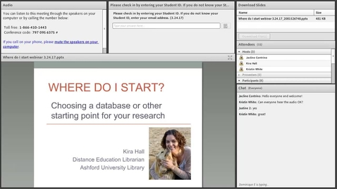 Thumbnail for entry Where do I start? Choosing a database or other starting points for your research