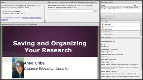 Thumbnail for entry Saving and Organizing Your Research
