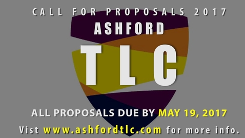 Thumbnail for entry Ashford TLC 2017 Call For Proposals
