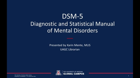 Thumbnail for entry The DSM-5