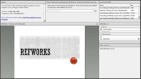 RefWorks Library Webinar
