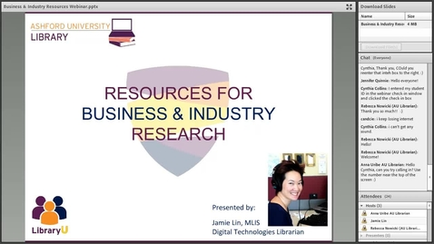 Thumbnail for entry Resources for Business and Industry Research 05.03.16