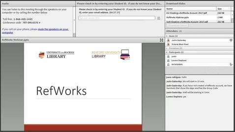 Thumbnail for entry RefWorks Library Webinar (edited)