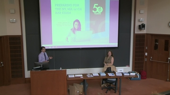 Barbri MA/NY & CA Bar Exam Presentation – Fall '18 | Harvard