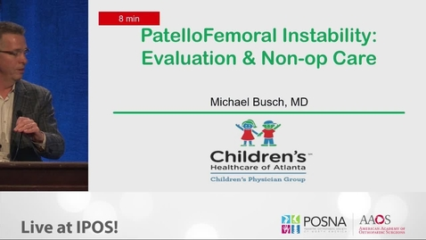 Thumbnail for entry Patellafemoral Instability: Evaluation & Non-Op Care