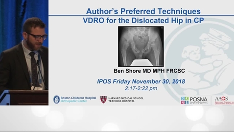 Thumbnail for entry VDRO for the Dislocated Hip in Cerebral Palsy