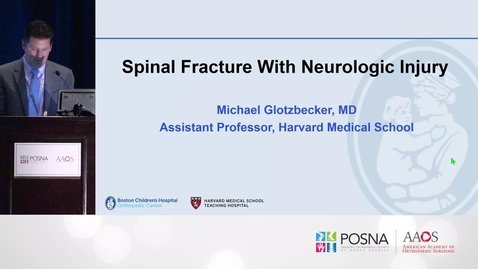 Thumbnail for entry Spinal Fracture with Neurologic Injury