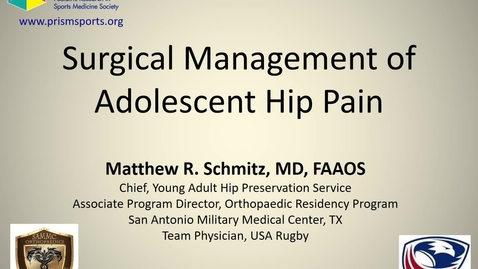 Thumbnail for entry Surgical Management of Adolescent Hip Pain