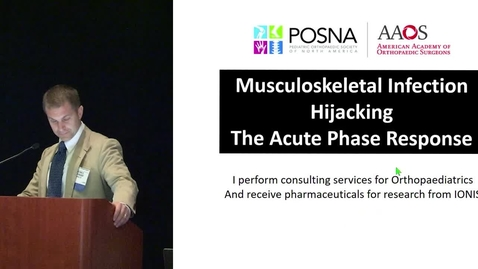 Thumbnail for entry Musculoskeletal Infection: Hijacking the Acute Phase Response