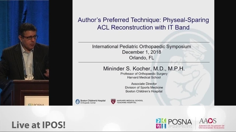 Thumbnail for entry Physeal Sparing ACL Reconstruction with IT Band