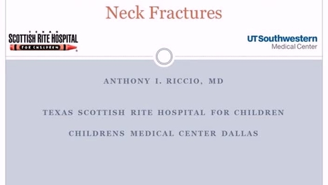 Thumbnail for entry Pediatric and Adolescent Femoral Neck Fractures