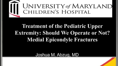 Thumbnail for entry Medial Epicondyle Fractures: Should We Operate or Not?