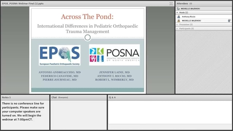 Thumbnail for entry Across the Pond: International Differences in Pediatric Orthopaedic Trauma Management