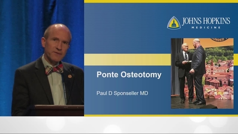 Thumbnail for entry Ponte Osteotomies