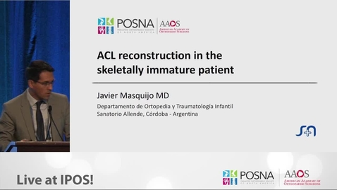 Thumbnail for entry ACL Reconstruction in the Skeletally Immature Patient