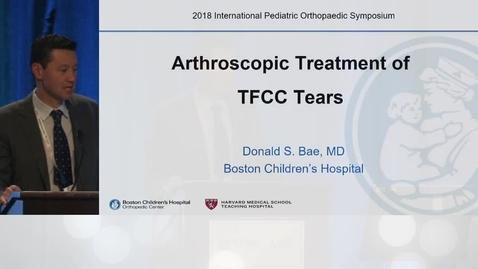 Thumbnail for entry Arthroscopic Treatment of TFCC Tears