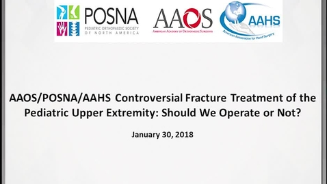 Thumbnail for entry Controversial Fracture Treatment of the Pediatric Upper Extremity