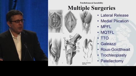 Thumbnail for entry MPFL Reconstruction for Patellar Instability