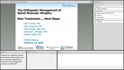 Thumbnail for entry The Orthopedic Management Spinal Muscular Atrophy: New Treatments…Next Steps
