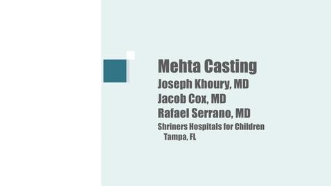 Thumbnail for entry Mehta Casting Technique