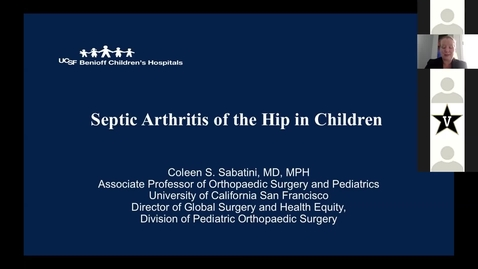 Thumbnail for entry Septic Arthritis of the Hip in Children