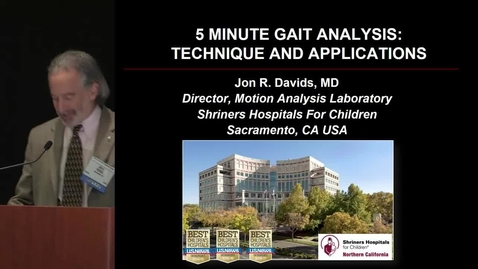 Thumbnail for entry 5 Minute Gait Analysis: Technique and Applications