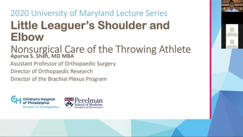 Thumbnail for entry Little Leaguer's Shoulder and Elbow: Nonsurgical Care for the Throwing Athlete