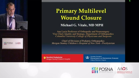 Thumbnail for entry Primary Multilevel Wound Closure in Scoliosis