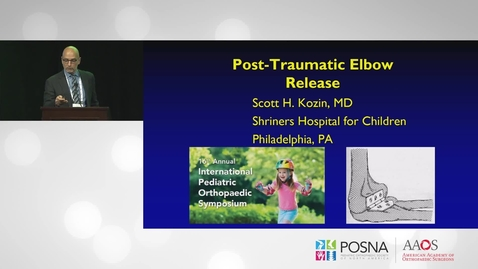 Thumbnail for entry Post-traumatic Elbow Contracture Release
