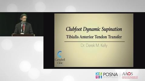 Thumbnail for entry Tibialis Anterior Tendon Transfer