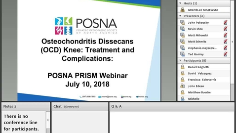 Thumbnail for entry Osteochondritis Dissecans (OCD) Knee: Treatment and Complications