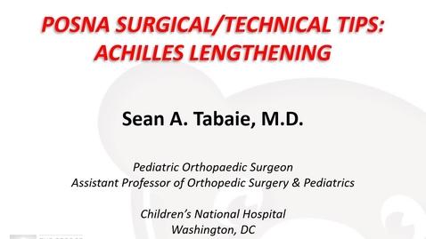 Thumbnail for entry Achilles Tendon Lengthening