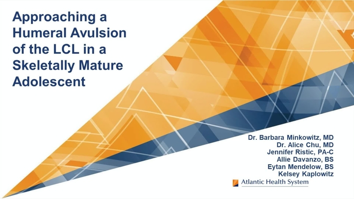 Video Abstract 5: Lateral Epicondyle Avulsion in a Skeletally Mature Adolescent