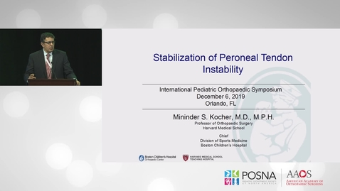 Thumbnail for entry Stablization of Peronenal Tendon Instability