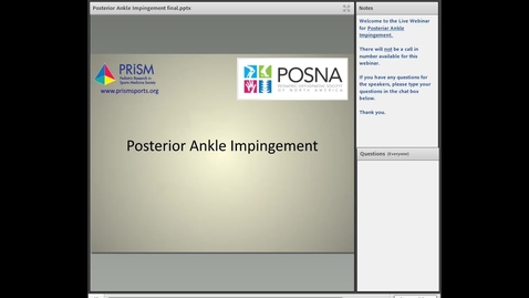 Thumbnail for entry Pediatric Posterior Ankle Impingement: Diagnosis and Management