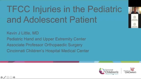 Thumbnail for entry TFCC Injuries in the Pediatric and Adolescent Patient