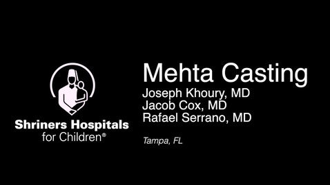 Thumbnail for entry Application of Mehta Cast Technique