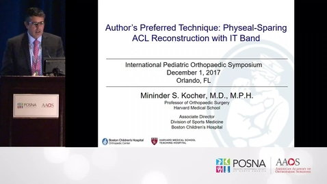 Thumbnail for entry Physeal Sparing ACL