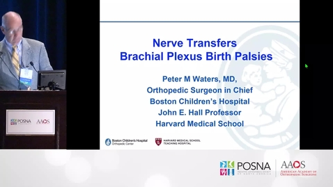 Thumbnail for entry Nerve Transfers in Brachial Plexus Birth Palsies