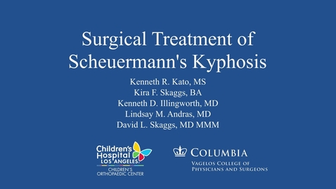 Thumbnail for entry Surgical Treatment of Scheuermann's Kyphosis