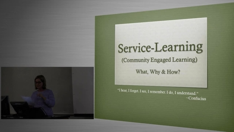 Thumbnail for entry Mark Brunson & Kate Stephens - Bringing Service-Learning into the USU Classroom