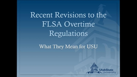 Thumbnail for entry FSLA Regulation Townhall Discussion - September 1, 2016