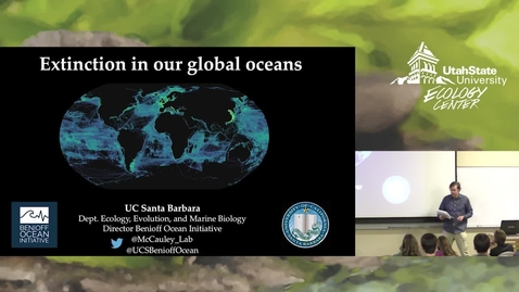 Thumbnail for entry Dr. D.J. McCauley - Extinction In Our Global Oceans
