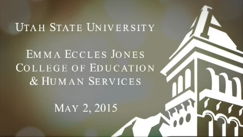 Thumbnail for entry 2015 College of Education & Human Services Commencement