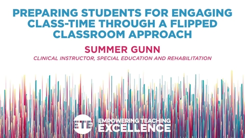 Thumbnail for entry Preparing Students for Engaging Class-time Through a Flipped Classroom Approach
