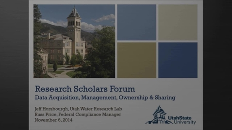 Thumbnail for entry Fall 2014 Research Scholars Forum