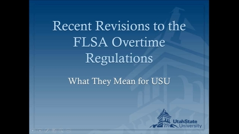 Thumbnail for entry FSLA Regulation Townhall Discussion - September 7, 2016