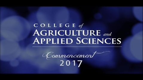 Thumbnail for entry 2017 CAAS Commencement