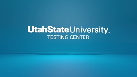 Thumbnail for entry USU Testing Center